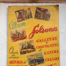 Coleccionismo Álbumes: ALBUM DE CROMOS: HISTORIA DEL TRANSPORTE TERRESTRE A TRAVES DE LOS SIGLOS . CHOCOLATES SOLSONA. Lote 133399710