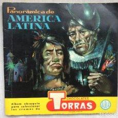 Coleccionismo Álbumes: ALBUM DE CROMOS PANORÁMICA DE AMÉRICA LATINA. CHOCOLATES TORRAS. INCOMPLETO. FALTAN 3 CROMOS. Lote 133558810