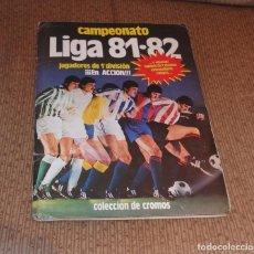 Coleccionismo Álbumes: ALBUM CAMPEONATO DE LIGA 81-82,ED.ESTE,CON 349 CROMOS. Lote 136211520