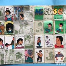 Coleccionismo Álbumes: RARISIMO ALBUM DE CROMOS MARCO EL PEQUEÑO DE GENOVA A FALTA DE 27 CROMOS. Lote 133773446
