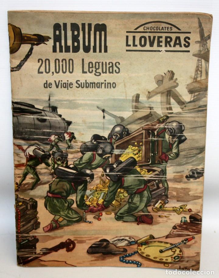 ALBUM 2- 20.000 LEGUAS DE VIAJE SUBMARINO-CHOCOLATES LLOVERAS. (Coleccionismo - Cromos y Álbumes - Álbumes Incompletos)