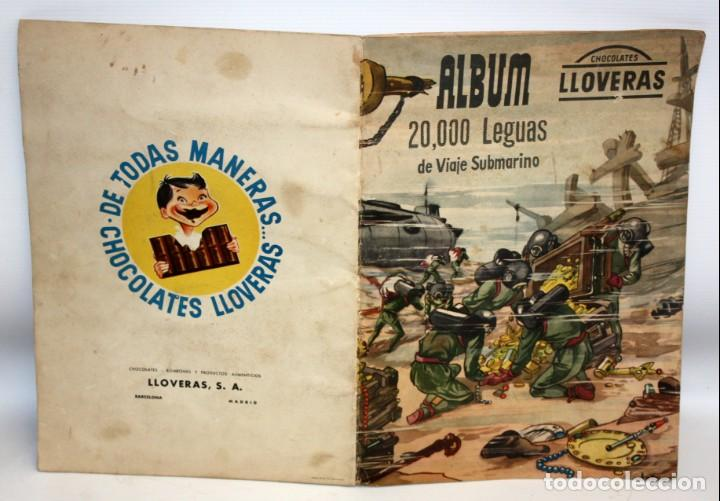 Coleccionismo Álbumes: ALBUM 2- 20.000 LEGUAS DE VIAJE SUBMARINO-CHOCOLATES LLOVERAS. - Foto 2 - 134134514