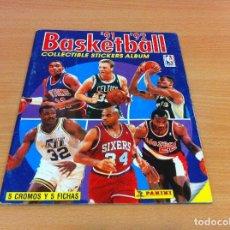Coleccionismo Álbumes: ÁLBUM INCOMPLETO DE PANINI ESPAÑA/ PORTUGAL: BALONCESTO NBA BASKETBALL 91- 92. Lote 134542802