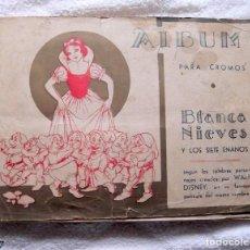 Coleccionismo Álbumes: ÁLBUM BLANCA NIEVES AÑOS 40. Lote 135600106