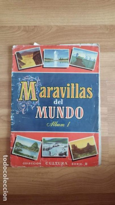 MARAVILLAS DEL MUNDO ALBUM I - BRUGUERA -FALTAN 22 CROMOS DE 250 (Coleccionismo - Cromos y Álbumes - Álbumes Incompletos)