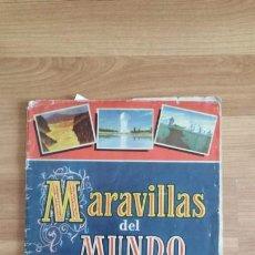 Coleccionismo Álbumes: MARAVILLAS DEL MUNDO ALBUM I - BRUGUERA -FALTAN 22 CROMOS DE 250. Lote 136609538