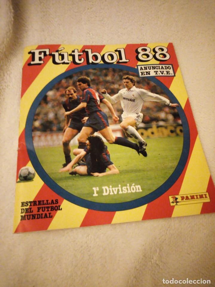 Album futbol 88 1ª division panini,faltan 17 cromos. segunda mano