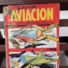 Coleccionismo Álbumes: ÁLBUM DE CROMOS AVIACIÓN. INCOMPLETO. EDIC. CLIPER. BARCELONA.. Lote 137624122