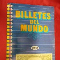 Coleccionismo Álbumes: ALBUM DE CROMOS INCOMPLETO. BILLETES DEL MUNDO. DIDEC. FALTAN 5 CROMOS. Lote 137782742