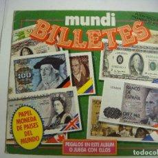 Coleccionismo Álbumes: ALBUN DE CROMOS DE MUNDI BILLETES INCOMPLETO (#). Lote 138640714