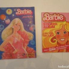 Coleccionismo Álbumes: 2 ÁLBUMES BARBIE: STICKER ALBUM Y BARBIE PARADE. MUY COMPLETOS, LEER. AÑOS 80.. Lote 138901318