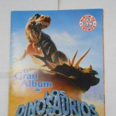 Coleccionismo Álbumes: EL GRAN ALBUM DE DINOSAURIOS. LE FALTAN 37 DE 194 CROMOS. MV EDITORIES. INCOMPLETO. TDKC38. Lote 139271930