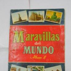 Coleccionismo Álbumes: MARAVILLAS DEL MUNDO. ALBUM II. COLECCION CULTURA SERIE III. BRUGUERA 1956. FALTAN 8 CROMOS. TDKC38. Lote 139272690