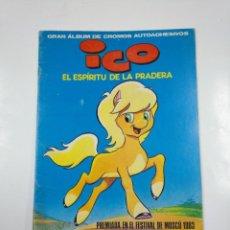 Coleccionismo Álbumes: ALBUM ICO EL ESPÍRITU DE LA PRADERA. GRAN ALBUM DE CROMOS AUTOADHESIVOS. SIN CONTENIDO. TDKC38. Lote 139432758