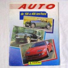 Coleccionismo Álbumes: ALBUM DE CROMOS AUTO DE 100 A 400 M/HORA PANINI 161 CROMOS (TODO EL CONTENIDO FOTOGRAFIADO). Lote 139743734