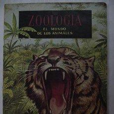 Coleccionismo Álbumes: ZOOLOGÍA. EL MUNDO DE LOS ANIMALES - ALBUM DE CROMOS. FALTA 1 CROMO DE 192.. Lote 140125533