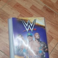 Coleccionismo Álbumes: ALBUM CON 66 ACTION CARDS WWE RAW SMACK DOWN. Lote 140521178