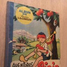 Coleccionismo Álbumes: PRIMER ÁLBUM DE CHOCOLATES LA CIBELES AVENTURAS DE PININ FALTAN DOS CROMOS. Lote 140663562