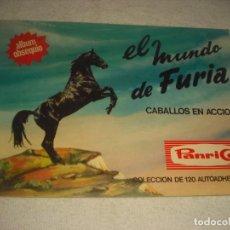 Coleccionismo Álbumes: EL MUNDO DE FURIA , PANRICO 1973. VACIO COMO NUEVO.. Lote 140747786