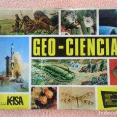 Coleccionismo Álbumes: CROMOS.ALBUM-GEO/CIENCIAS-KEISA EDICIONES 1971.CONTIENE 121 CROMOS.. Lote 140766990