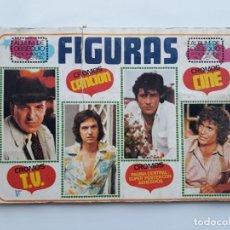 Coleccionismo Álbumes: ANTIGUO ALBUM DE CROMOS FIGURAS CANCION CINE T.V. TELEVISION - CONTIENE 163 CROMOS, COLECCIONES ESTE. Lote 140868630