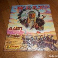 Coleccionismo Álbumes: WEST, EL OESTE PANINI 1992 ALBUM MAS FUERTE EN SU PLASTICO ORIGINAL PLASTICO REGALO TROQUELADO. Lote 140869534