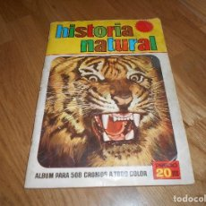 Coleccionismo Álbumes: ALBUM HISTORIA NATURAL COMPLETO MAS DE 360 CROMOSBRUGUERA 1967. Lote 140871462