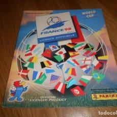 Coleccionismo Álbumes: ALBUM FUTBOL PANINI WORLD CUP FRANCIA FRANCE 98 MUNDIAL NO COMPLETO. Lote 140873742
