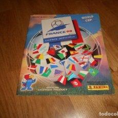 Coleccionismo Álbumes: ALBUM FUTBOL PANINI WORLD CUP FRANCIA FRANCE 98 MUNDIAL NO COMPLETO. Lote 140875486