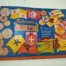 Coleccionismo Álbumes: ALBUM DE CROMOS COLECCIÓN UNIVERSAL - LIBRO DE BANDERAS, ESCUDOS, MONEDAS, MAPAS - 1962 - BCN -. Lote 140897050