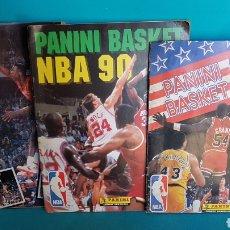 Coleccionismo Álbumes: LOTE 3 ALBUMES PANINI BASKET NBA 1989 1990 Y 1991 89 90 91 NBA. Lote 142146393