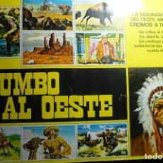 Coleccionismo Álbumes: ALBUM CROMOS RUMBO AL OESTE.--TIENE 140 CROMOS DE 322. Lote 143350622