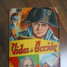 Coleccionismo Álbumes: ALBUM CROMOS VIDAS DE ACCION EDITORIAL FHER CON 324 CROMO NAPOLEON ALBUN ALFREEDOM. Lote 143431102