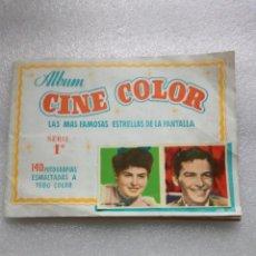 Coleccionismo Álbumes: ANTIGUO ÁLBUM BRUGUERA CINE COLOR 1° SERIE AÑOS 50. Lote 143584182