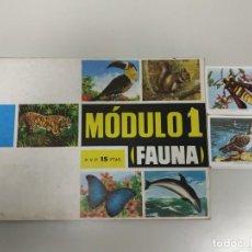 Coleccionismo Álbumes: J- ALBUM DE CROMOS OBSEQUIO MODULO 1 FAUNA EDITORIAL VALERO AÑO 1970 INCOMPLETO . Lote 144030966