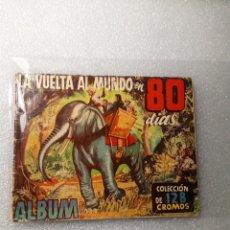 Coleccionismo Álbumes: RARO ALBUM DE CROMOS LA VUELTA AL MUNDO EN 80 DIAS AÑOS 50 HISPANO AMERICANA. Lote 144148958
