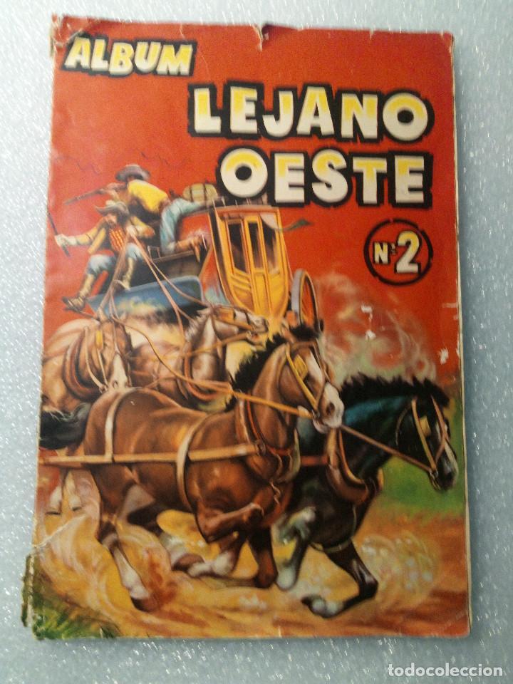 ALBUM LEJANO OESTE. NUMERO 2. EDITORIAL RUIZ ROMERO CON MAS O MENOS LA MITAD DE LOS CROMOS (Coleccionismo - Cromos y Álbumes - Álbumes Incompletos)