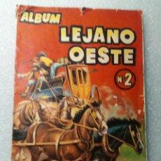 Coleccionismo Álbumes: ALBUM LEJANO OESTE. NUMERO 2. EDITORIAL RUIZ ROMERO CON MAS O MENOS LA MITAD DE LOS CROMOS. Lote 144149550