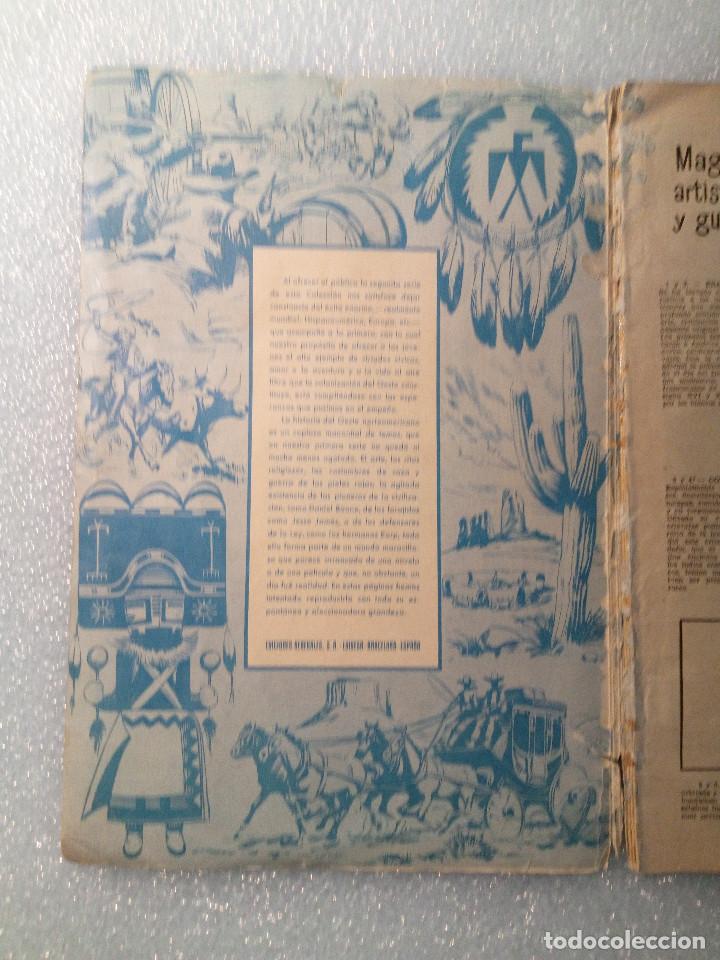 Coleccionismo Álbumes: ALBUM LEJANO OESTE. NUMERO 2. EDITORIAL RUIZ ROMERO con mas o menos la mitad de los cromos - Foto 2 - 144149550