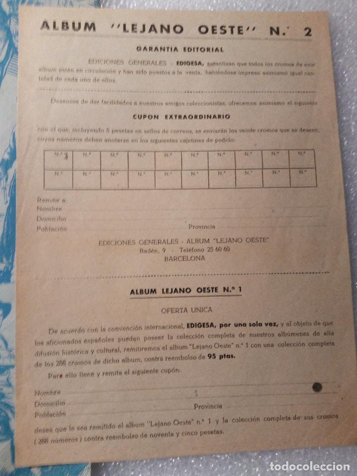 Coleccionismo Álbumes: ALBUM LEJANO OESTE. NUMERO 2. EDITORIAL RUIZ ROMERO con mas o menos la mitad de los cromos - Foto 55 - 144149550