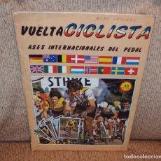 Coleccionismo Álbumes: ALBUM VUELTA CICLISTA,CHOCOLATES HUESO,AÑO 1983,CONSERVA 151 CROMOS. Lote 144568742