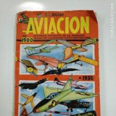Coleccionismo Álbumes: ALBUM DE AVIACION DE 1900 A 1950. FALTAN 4 CROMOS Y CONTRAPORTADA. TDKC38. Lote 146491062