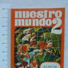 Coleccionismo Álbumes: REPRODUCCION DEL ALBUM DE CROMOS NUESTRO MUNDO 2 PARA CONTROL DE CROMOS. BIMBO. 8,5 CM X 6 CM. Lote 147673630
