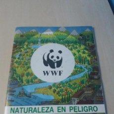 Coleccionismo Álbumes: ALBUM NATURALEZA EN PELIGRO WWF DE PANINI. Lote 147674378