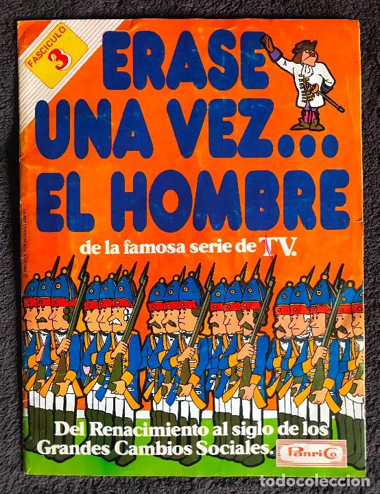 ALBUM DE CROMOS ERASE UNA VEZ EL HOMBRE PANRICO FASCICULOS 3 Y 4 (Coleccionismo - Cromos y Álbumes - Álbumes Incompletos)