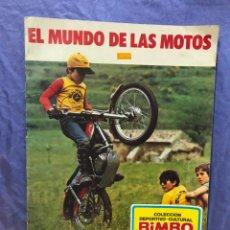 Coleccionismo Álbumes: EL MUNDO DE LAS MOTOS. BIMBO 1975. FALTA SOLO LOGO DE MOTOBECANE, Y TRIPTICO CENTRAL COMPLETO.. Lote 147997030