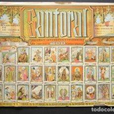 Coleccionismo Álbumes: SANTORAL DEL AÑO Y OTROS TEMAS PIADOSOS. ALBUM COM MÁS DE 300 ESTAMPAS RELIGIOSAS. Lote 148043906