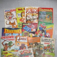 Coleccionismo Álbumes: LOTE DE 18 ALBUMES DE CROMOS INCOMPLETOS - TARZAN - ORZOWEI - JACKY - SIGLO XX ... LOTE 1. Lote 148045050