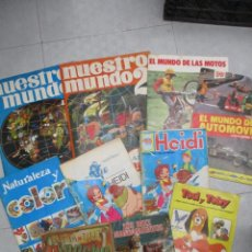 Coleccionismo Álbumes: LOTE DE 10 ALBUMES DE CROMOS INCOMPLETOS - DIEZ MANDAMIENTOS - PINOCHO - NUESTRO MUNDO ... LOTE 3. Lote 148046922