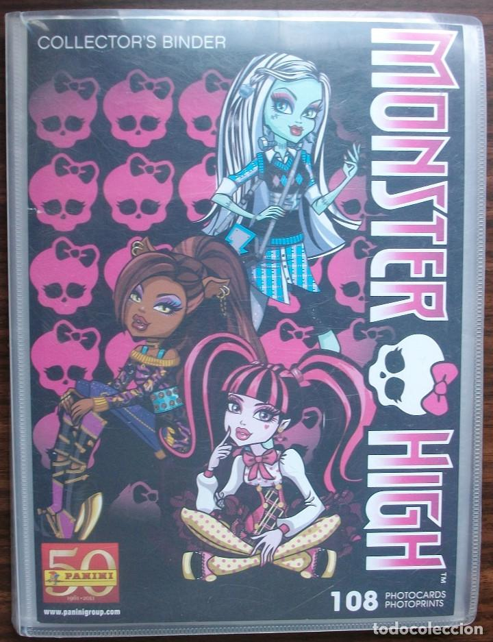 MONSTER HIGH 108 PHOTOCARDS (COLECCION INCOMPLETA) (Coleccionismo - Cromos y Álbumes - Álbumes Incompletos)